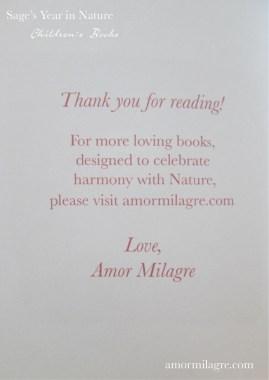 Amor Milagre Sage's Year in Nature Children's Book amormilagre.com 10