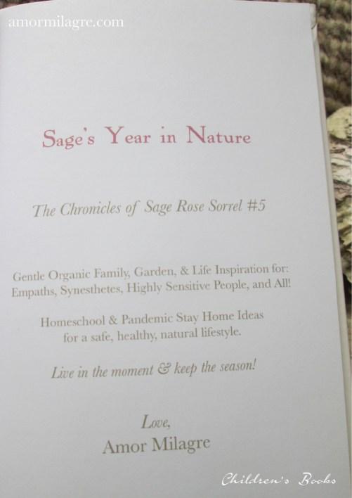 Amor Milagre Sage's Year in Nature Children's Book amormilagre.com 9
