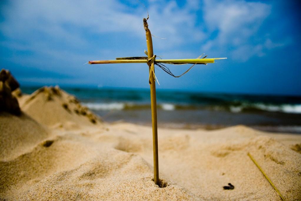 A cross made of dune grass