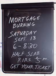 Mortgage Burning Party Invite