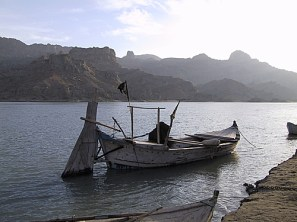 Boat at Mari Indus, by Randall Law