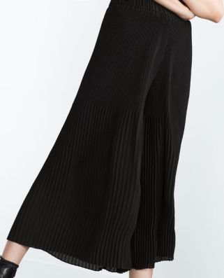 Zara trousers with elastic waistband