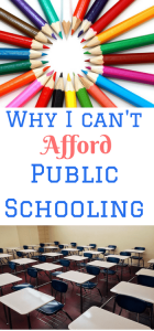 ONE REASON I HOMESCHOOL –  I CAN'T AFFORD TO SEND MY KIDS TO PUBLIC SCHOOL