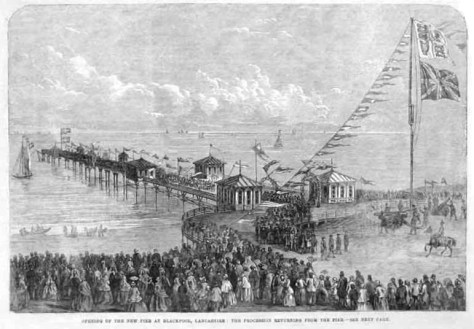 Lytham & St.Annes on the Sea Lancashire - Local History - Opening of North  Pier, Blackpool 1863