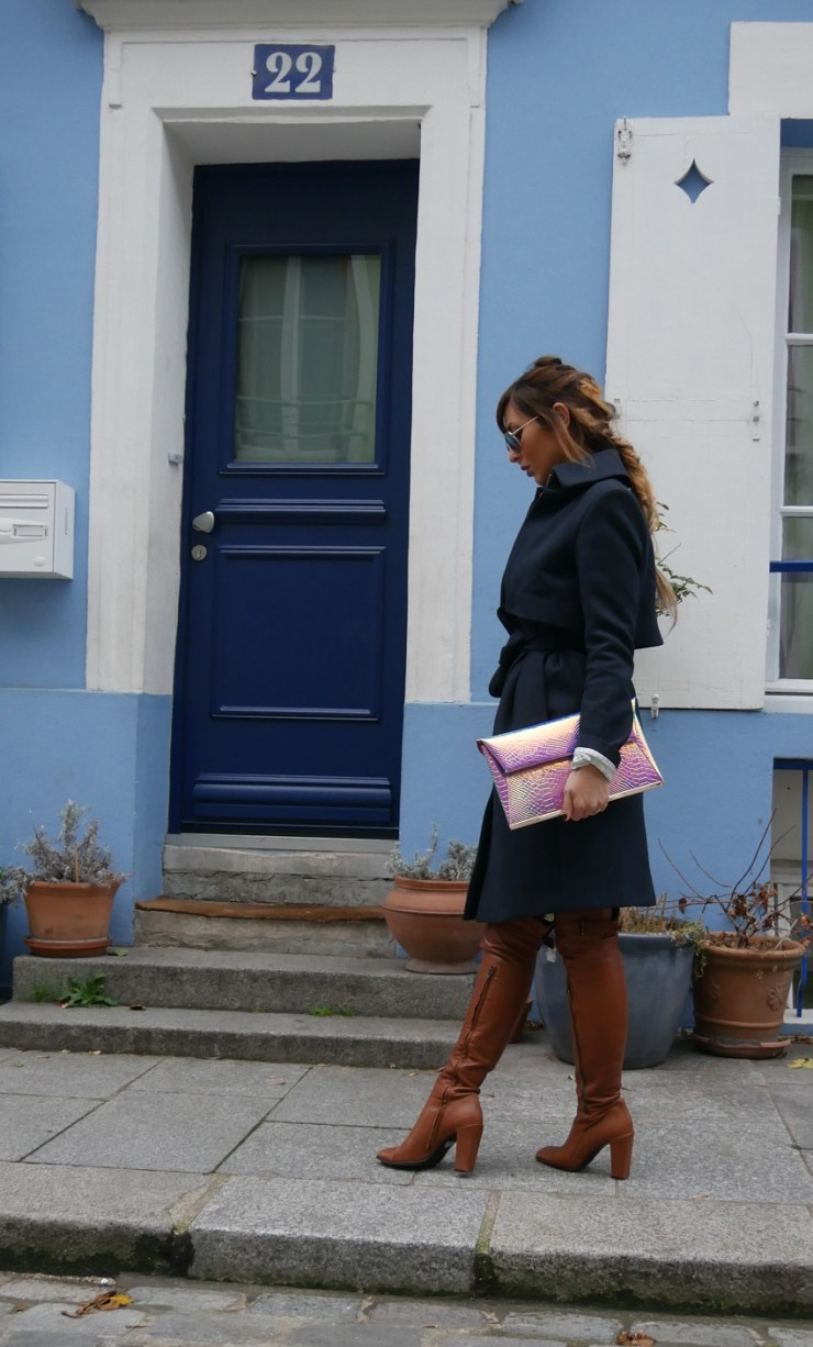 amourblogetbeaute manteau bleu Victoria Beckam