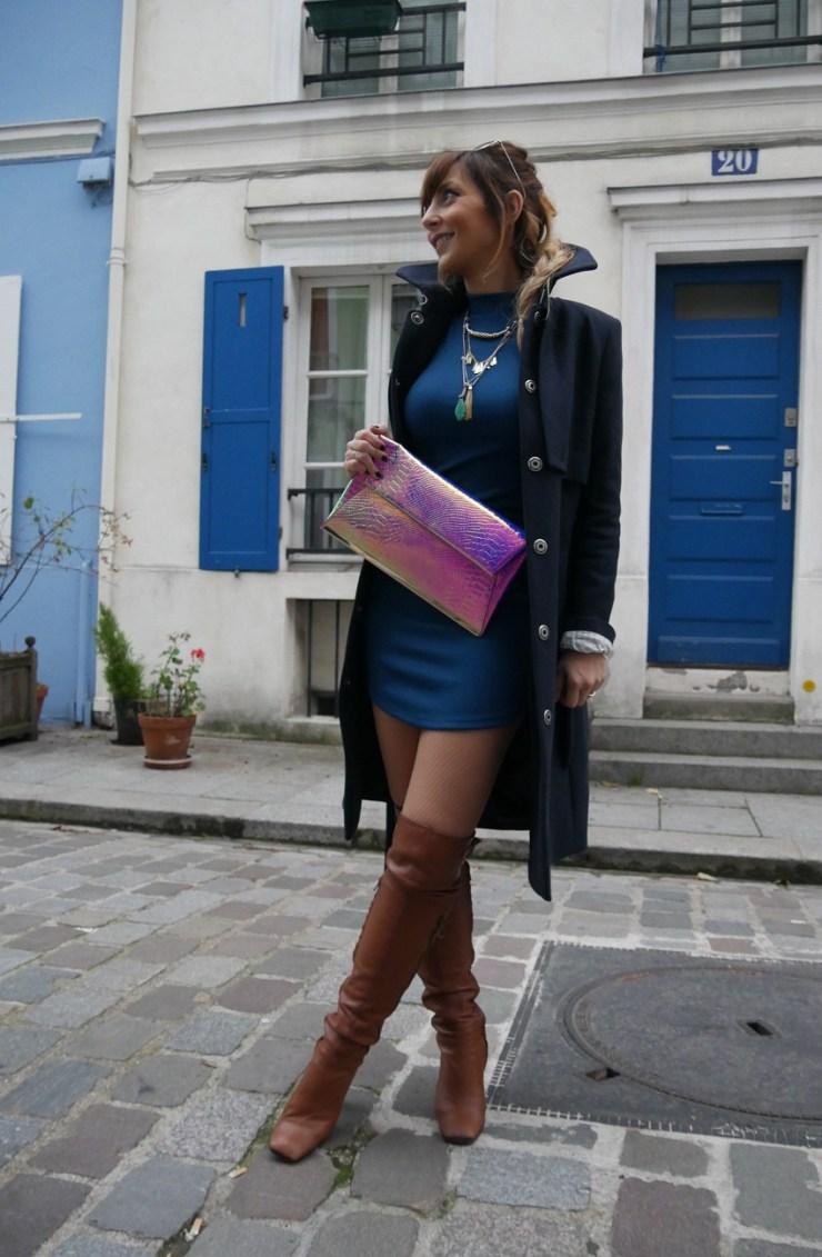 amourblogetbeaute robe bleue pochette Aurora