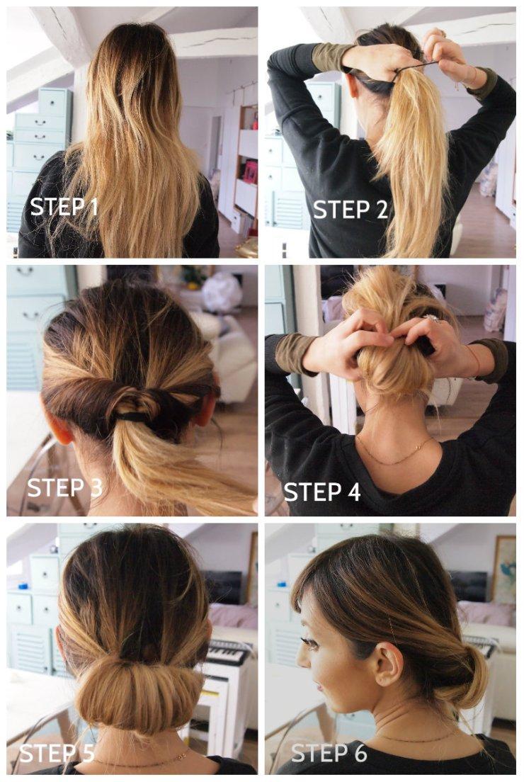 amourblogetbeaute tuto coiffure 1 - chignon easy