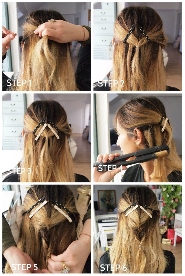amourblogetbeaute tutos coiffure 4 - Demi tresse graphique