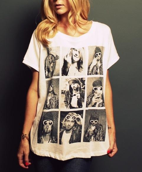 t-shirt Kurt Cobain amourblogetbeaute