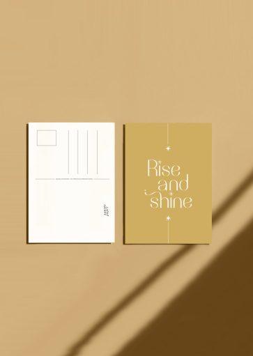 Carte postale Rise and shine