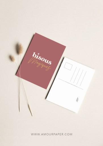 Carte postale Bisous magiques