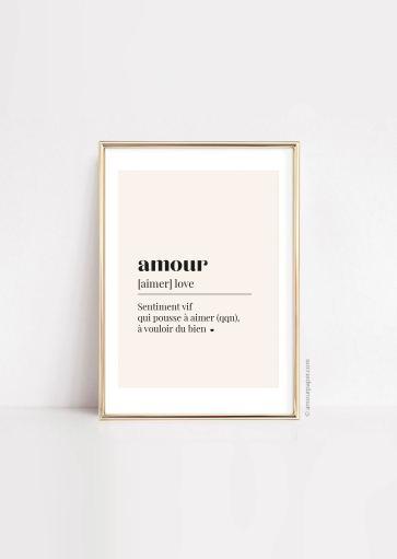 Affiche Amour à imprimer