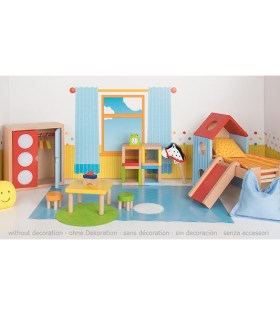 Goki - Furniture for flexible puppets, childrens room