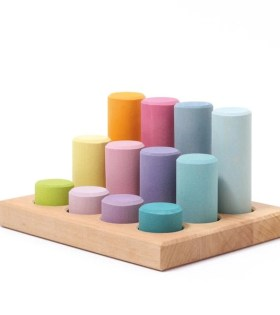 Grimms - Stacking Game Small Pastel Rollers 1