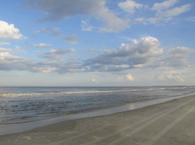 clouds and surf - mid beach, Jekyll Island
