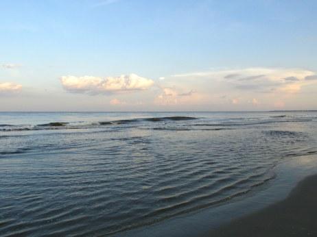 midbeach surf and clouds, Jekyll Island