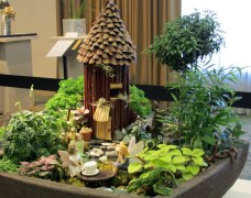 """Floral Design miniature Gardens: Tales of Enchantment: """"Tea with Tinkerbelle"""""""