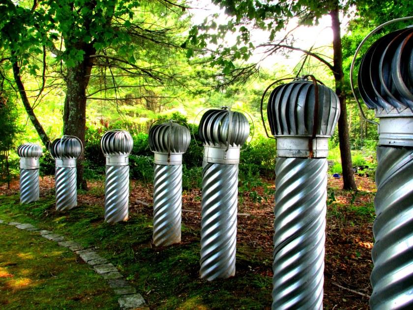 ventilators in Spiral Garden