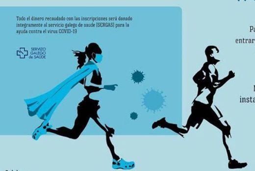 #correcontraelvirus, unha carreira solidaria para loitar contra o COVID-19
