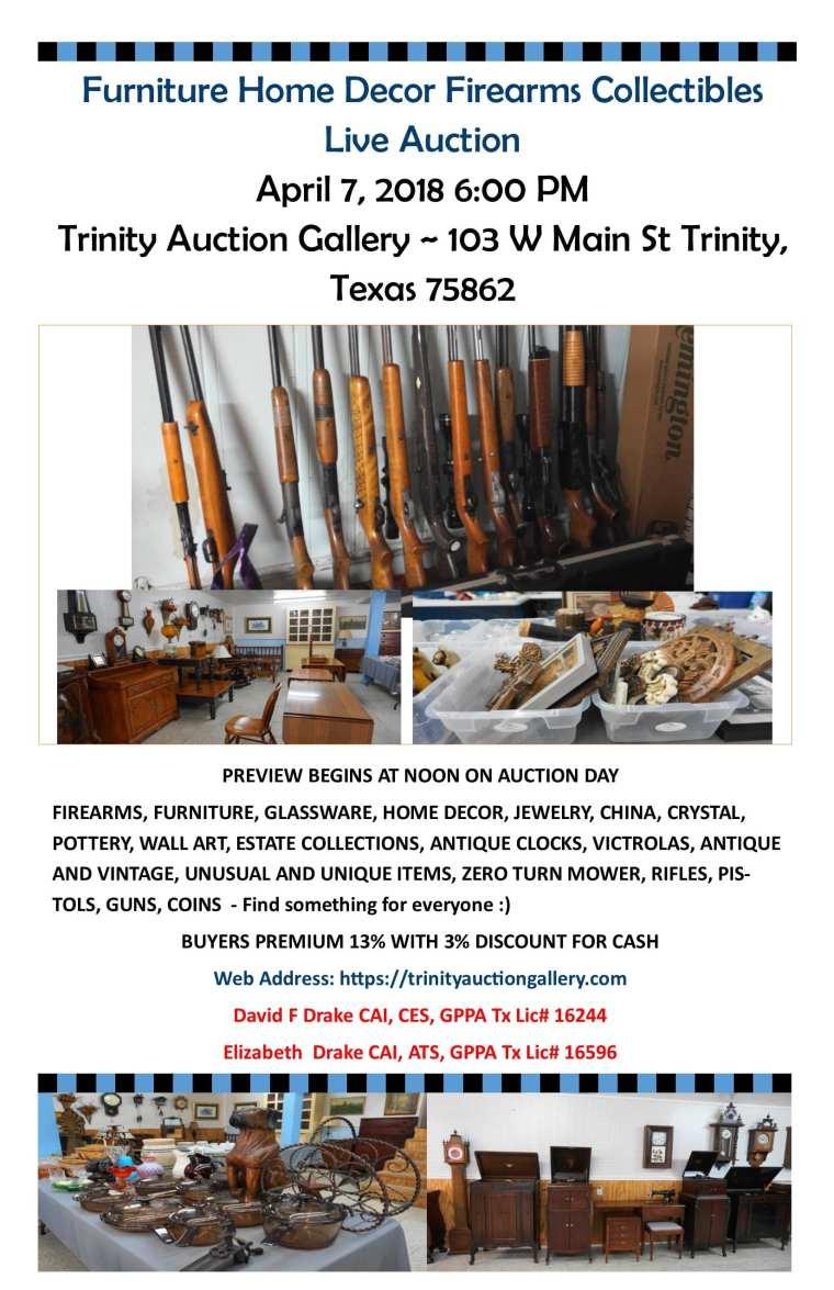 Furniture Firearms Coins Art Home Decor Live Auction