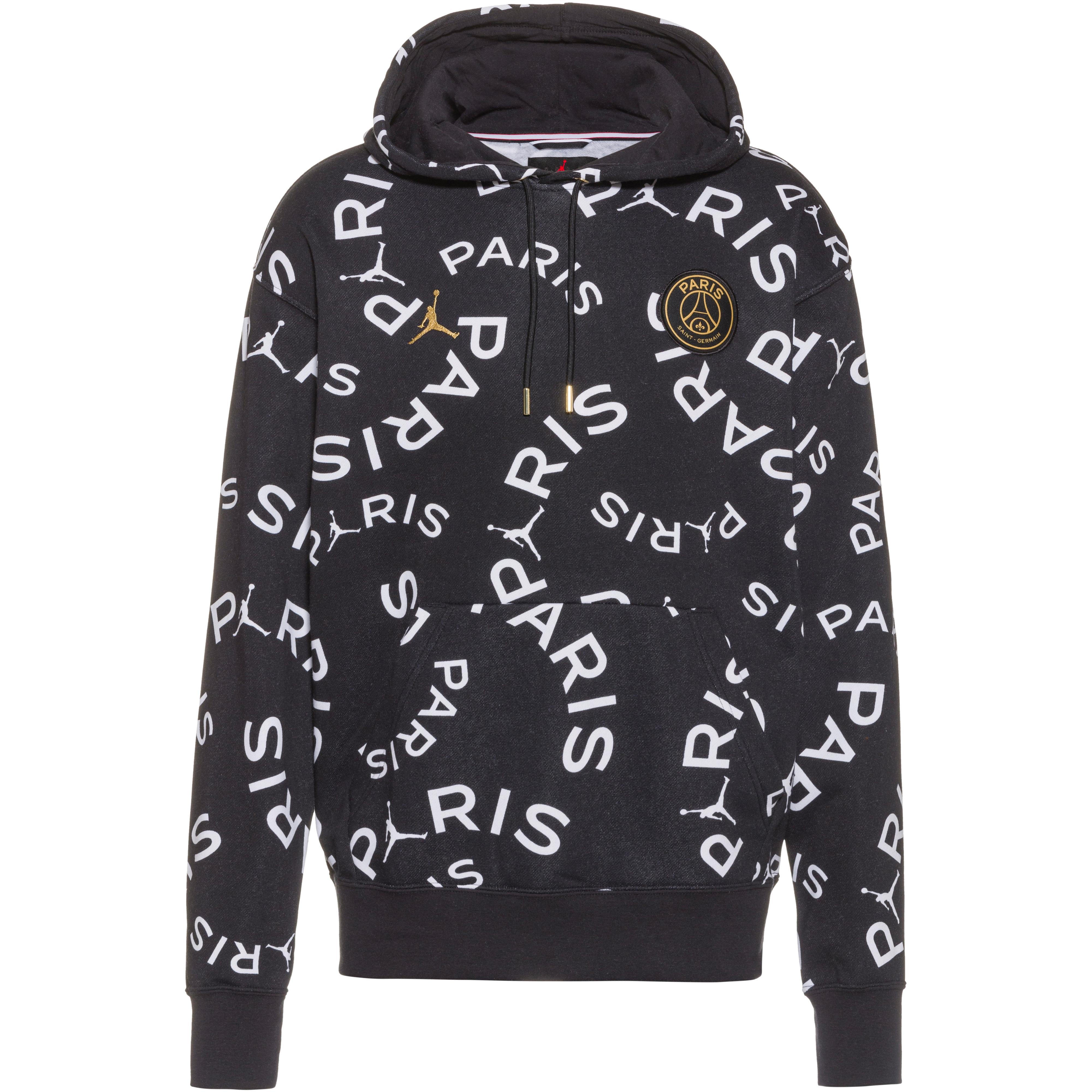 nike paris saint germain jordan hoodie herren black metallic gold im online shop von sportscheck kaufen