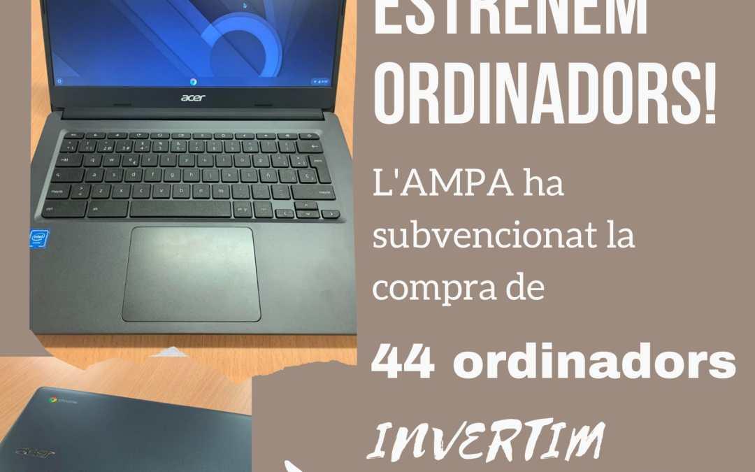 L'AMPA compra 44 portàtils per a 5è i 6è