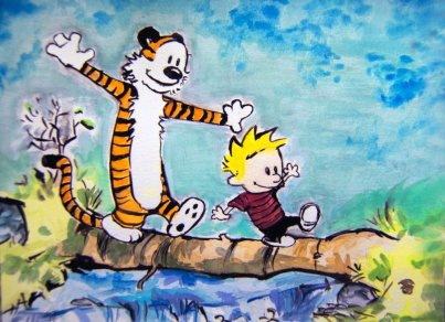 calvin_and_hobbes_river_by_smokypixel-d4z5v2z