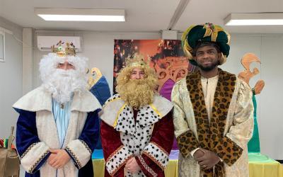 Visita de SSMM los Reyes Magos al Cole
