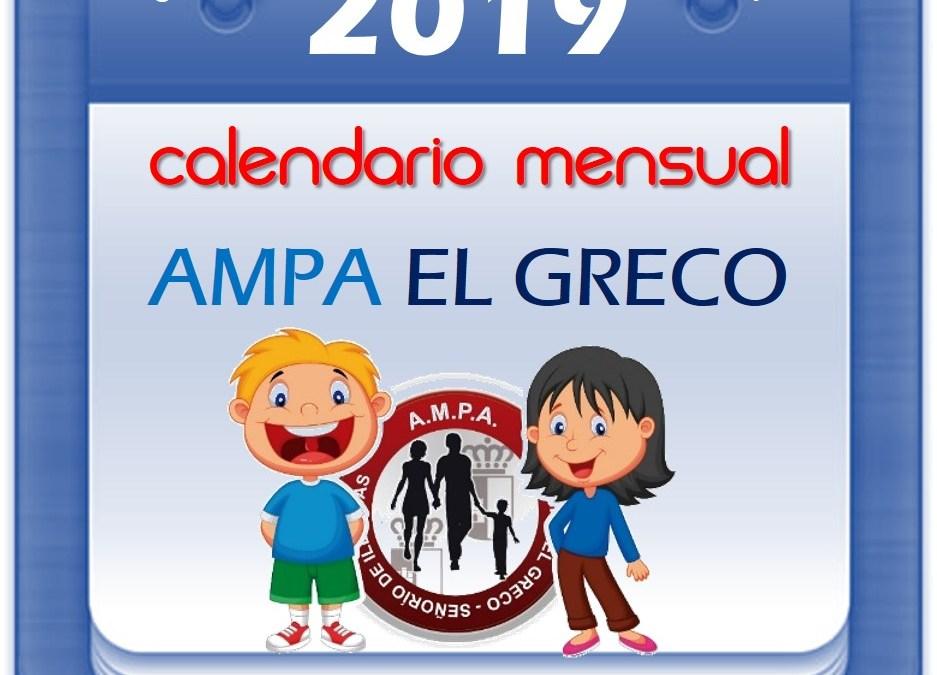 Calendario Junio 2019
