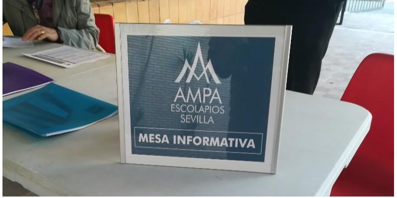 Mesa Informativa (Reuniones iniciales del cole) @ Puerta salón de actos-Escolapios Sevilla