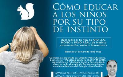 Conferencia: Cómo educar a los niños por su tipo de Instinto