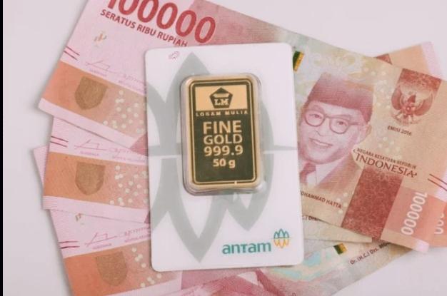 """Foto: Ilustrasi Emas Antam  (Datut Rakash/Ampar.id """"Aktual dan Terkini"""")"""