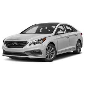 Hyundai Sonata white front 45