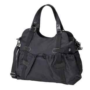 oioi black elastic pocket tote nappy bag 1