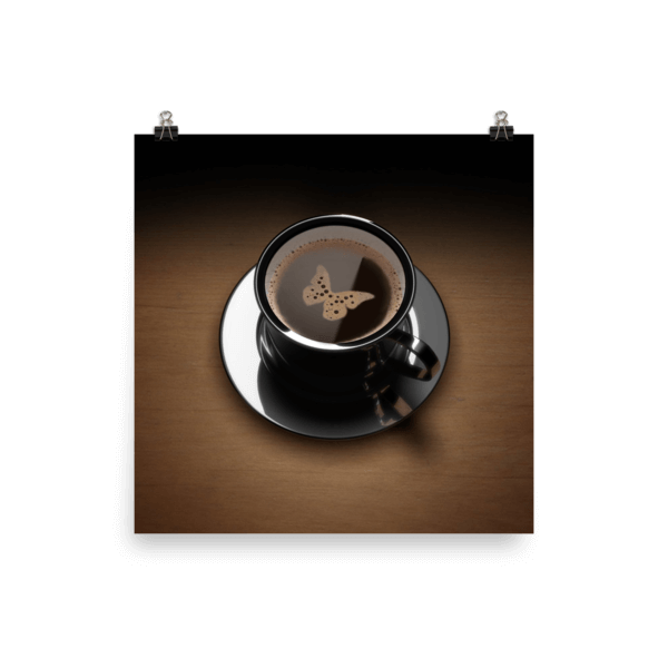 Coffee Poster – Butterfly  (matte)