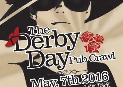 Derby Day Pub Crawl Poster
