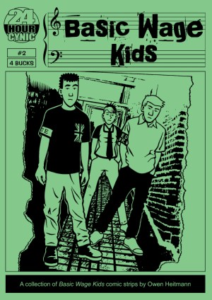 'Basic Wage Kids #2' cover by Owen Heitmann