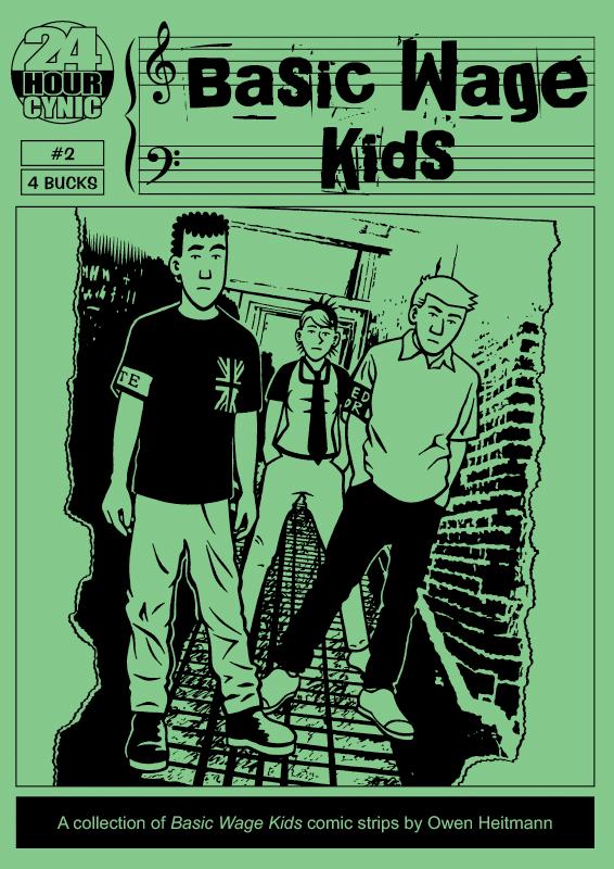 'Basic Wage Kids #2' cover by Owen Heitmann