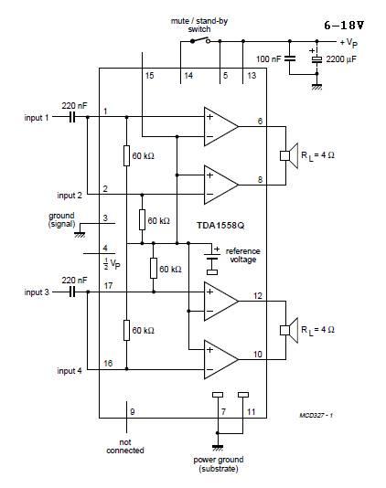 2x22w car audio amplifier circuit amplifier circuit design rh amplifiercircuit net