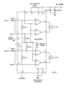 22Watt x 2 audio amplifier