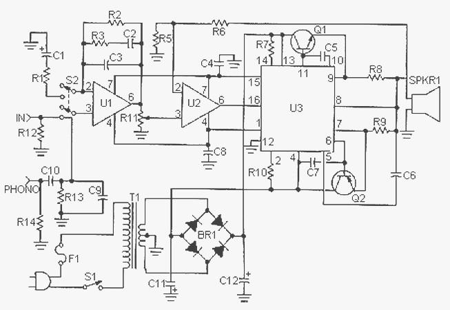 50 Watt Audio Amplifier based L8063 - Amplifier Circuit Design