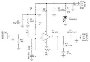 Audio frequency amplifier 20 W