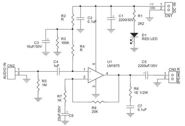 20 watts power amplifier Archives - Amplifier Circuit Design