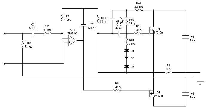 Class A Power Amplifier based TL071C