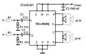 Car Stereo Amplifier Circuit Schematic