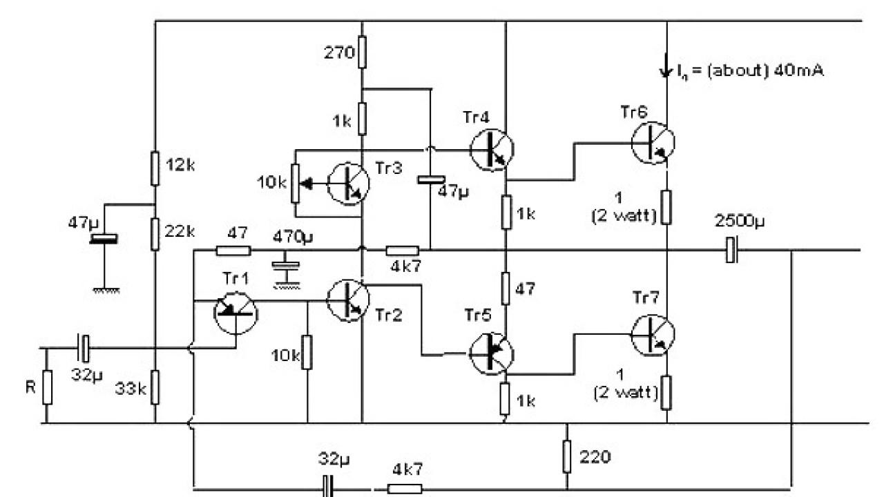 10 Watt Transistor audio amplifier - Amplifier Circuit Design