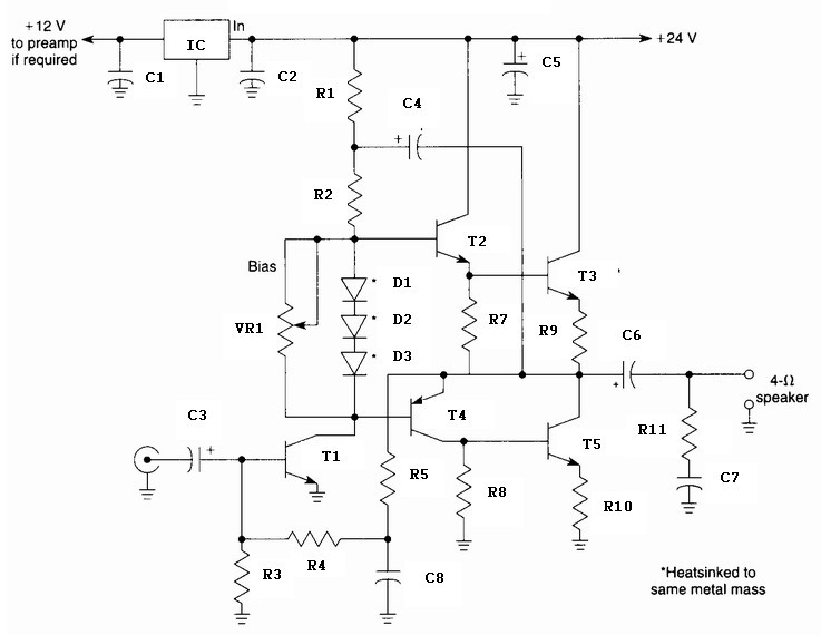 10 Watt Audio Amplifier