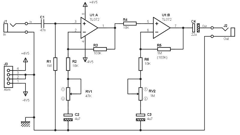 tl072 pre amp archives amplifier circuit design