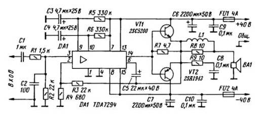 Monoblock Car Amplifier TDA7294 - Amplifier Circuit Design