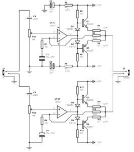 Stereo amplifier TL082